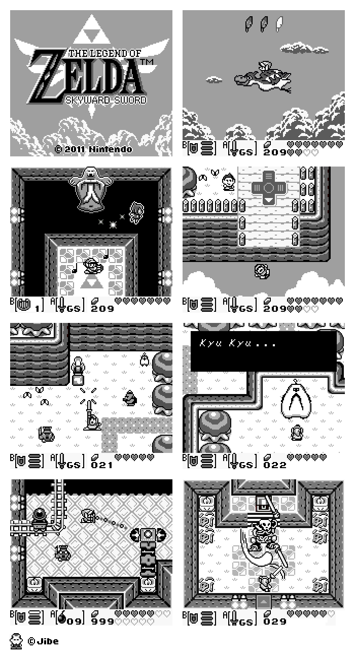 ZeldaSS GB The Legend of Zelda: Skyward Sword para Game Boy