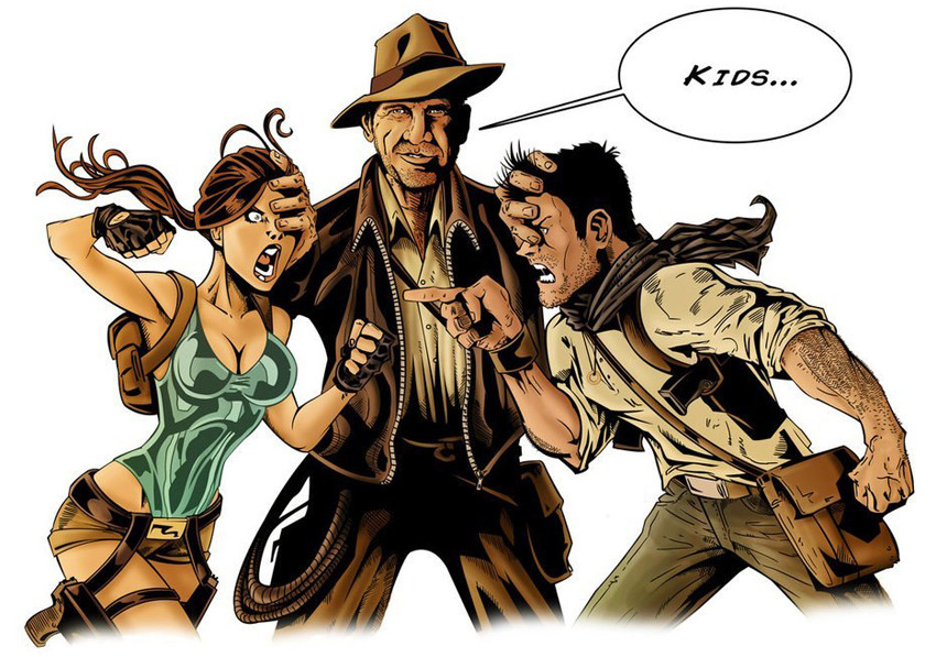 Lara Croft Nathan Drake Indiana Jones
