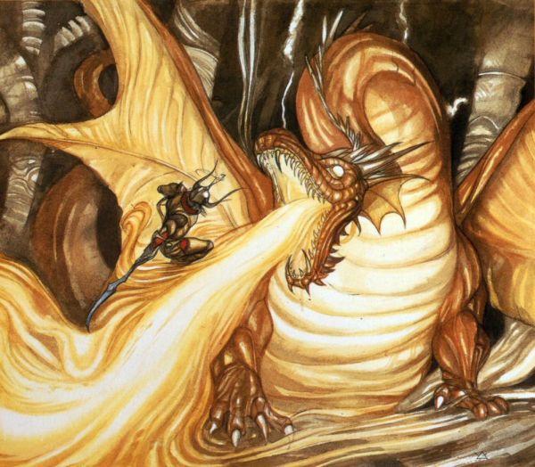 Muestra del artwork de Yoshitaka Amano para Final Fantasy